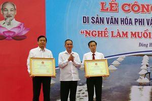 Nghề làm muối ở Bạc Liêu vinh dự được công nhận Di sản ăn hóa phi vật thể quốc gia