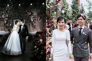 Công Phượng tung loạt ảnh cưới 'tình bể bình' chưa từng công bố để chúc mừng năm mới