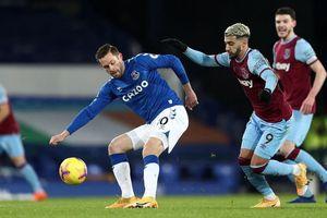 Everton 0-1 West Ham: Đứt mạch thăng hoa