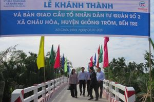 Bến Tre khánh thành 8 công trình cầu đường ở Giồng Trôm