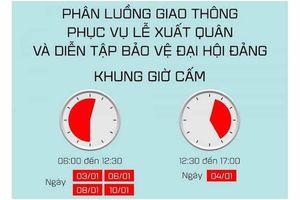 Các tuyến đường tạm cấm ở Hà Nội từ ngày 3 đến 10-1