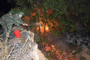 Trường Quân sự Quân khu 3 kịp thời chữa cháy rừng phòng hộ