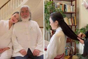 'Trùm sản xuất phim Kim Dung' Trương Kỷ Trung U70 cưng chiều vợ trẻ hết mực