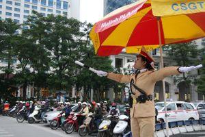 Phân luồng giao thông phục vụ diễn tập phương án bảo vệ Đại hội Đảng lần thứ XIII
