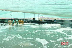 Người nuôi trồng thủy sản Lộc Hà vất vả chống rét cho tôm, cá