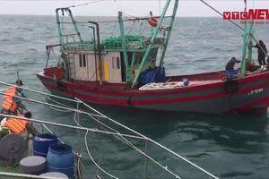 Bộ đội biên phòng giải cứu 4 ngư dân tàu cá gặp nạn trên vùng biển Bạch Long Vỹ
