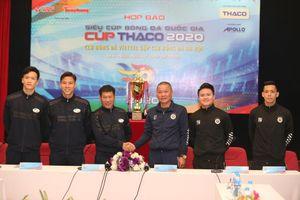 Toàn cảnh họp báo Siêu cúp Quốc gia - Cúp THACO 2020