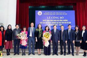 Công bố quyết định công nhận Hội đồng Trường Đại học Văn hóa Hà Nội