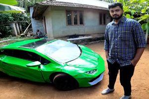 Thanh niên Ấn Độ lượm phế liệu chế tạo siêu xe Lamborghini Huracan