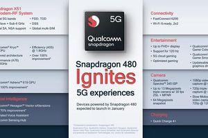 Snapdragon 480 5G tăng tốc thương mại hóa 5G cho điện thoại thông minh phân khúc phổ thông