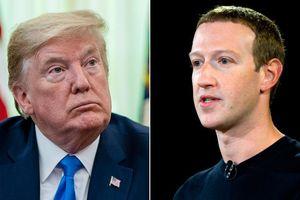 Facebook khóa tài khoản của ông Donald Trump ít nhất 2 tuần