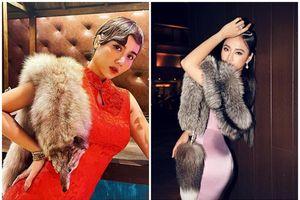 Huyền Lizzie và loạt mỹ nhân Việt gây tranh cãi vì mặc áo lông thú