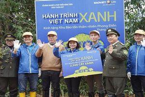 Khởi động 'Hành trình Việt Nam Xanh' trồng 25.000 cây tự nhiên tại TT-Huế