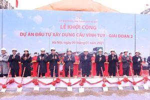 Hà Nội khởi công xây dựng cầu Vĩnh Tuy 2 hơn 2.500 tỷ đồng