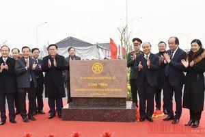 Khánh thành nút giao Vành đai 3 với cao tốc Hà Nội-Hải Phòng