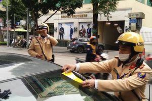 Hà Nội: Xử lý nghiêm tài xế đối phó với dán phạt nguội