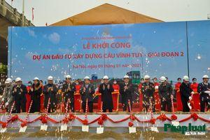 Chính thức động thổ, khởi công dự án xây dựng cầu Vĩnh Tuy giai đoạn 2