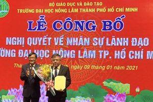 PGS.TS Huỳnh Thanh Hùng làm quyền hiệu trưởng Trường ĐH Nông Lam TPHCM