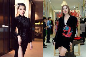 Hoa hậu Phương Khánh, Á hậu Ngọc Thảo duyên dáng với váy áo âm hưởng dân gian