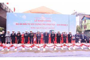 Hà Nội: Khởi công cầu Vĩnh Tuy giai đoạn 2 với mức đầu tư hơn 2.500 tỷ đồng