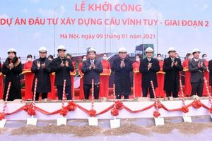 Chính thức khởi công cầu Vĩnh Tuy giai đoạn 2 bắc qua sông Hồng, tổng mức đầu tư hơn 2.000 tỷ