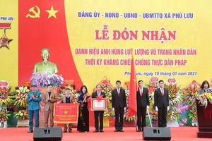 Xã Phù Lưu (huyện Ứng Hòa) đón nhận danh hiệu Anh hùng LLVTND