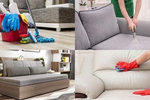 Cách vệ sinh ghế sofa đơn giản, sạch sẽ đón Tết
