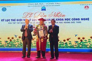 Doanh nghiệp Việt Nam được vinh danh Kỷ lục thế giới về Khoa học công nghệ