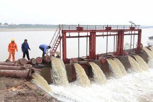 Xả nước phục vụ gieo cấy đợt 1 vụ đông xuân 2020-2021
