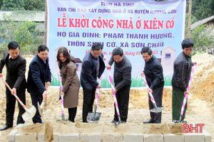 Hỗ trợ 150 triệu đồng xây nhà kiên cố cho 2 hộ nghèo ở Hương Sơn