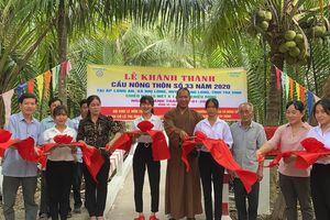 Chùa Long Bửu khánh thành cầu nông thôn, khởi công xây nhà