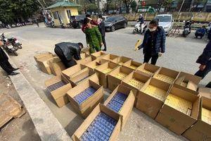Liên tiếp bắt giữ các vụ vận chuyển thuốc lá nhập lậu