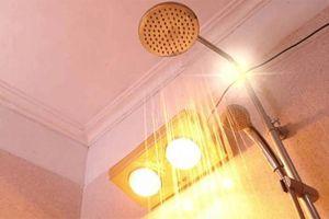 Những lưu ý khi dùng đèn sưởi nhà tắm trong mùa đông