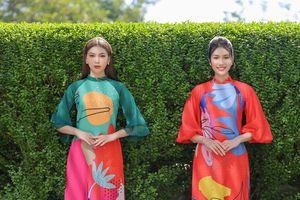 Á hậu Phương Anh, Ngọc Thảo yêu kiều trong áo dài Xuân