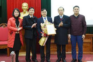 Công bố quyết định bổ nhiệm Phó Giám đốc Sở Nội vụ Hà Tĩnh