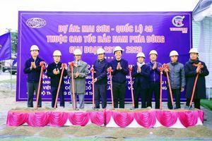 Khởi công gói thầu lớn nhất cao tốc Mai Sơn - QL45