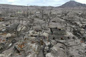 Cảnh hoang tàn ở Philippines sau 1 năm núi lửa phun trào