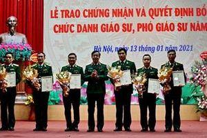 Học viện Quân y trao chứng nhận, quyết định bổ nhiệm chức danh Giáo sư, Phó giáo sư năm 2020