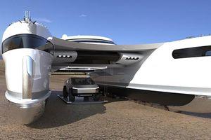 Pagurus - siêu du thuyền có thể 'bò trên đường' để hạ cạn ôtô