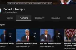 Kênh Youtube của Tổng thống Trump bị khóa nhiều tính năng quan trọng