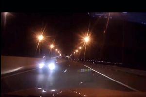 Ô tô lao vun vút ngược chiều trên cao tốc Hạ Long - Hải Phòng
