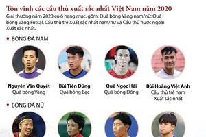 Tôn vinh các cầu thủ xuất sắc nhất Việt Nam năm 2020