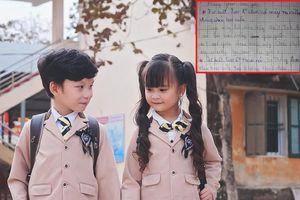 Những dòng tin nhắn trên giấy của học sinh Tiểu học khiến người lớn 'toát mồ hôi'
