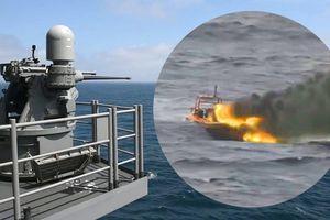 Pháo hạm Mk38, vũ khí chết người giáng vào xuồng cao tốc đối phương