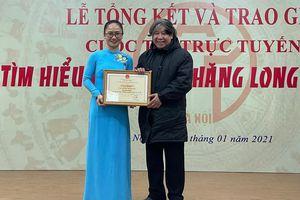 Huyện Đông Anh giành giải Nhất cuộc thi trực tuyến 'Tìm hiểu 1010 năm Thăng Long - Hà Nội'