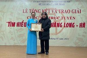 Trao giải Cuộc thi trực tuyến 'Tìm hiểu 1010 năm Thăng Long - Hà Nội'