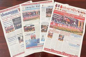 Truyền thông Lào đưa tin đậm nét về Đại hội Đảng NDCM Lào lần thứ XI