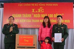 Cục Chính trị, Bộ Tổng Tham mưu tổ chức lễ khánh thành 'Ngôi nhà 100 đồng'