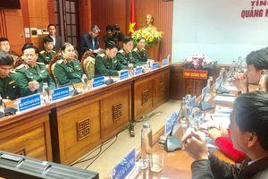 Đoàn công tác Bộ Tổng tham mưu thăm, làm việc tại Quảng Nam