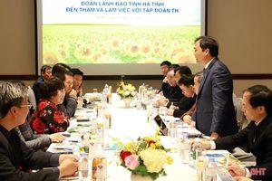 Thành lập tổ công tác hỗ trợ triển khai dự án Tập đoàn TH đầu tư vào Hà Tĩnh